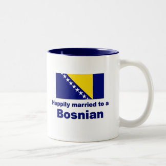 Happily Married Bosnian Two-Tone Coffee Mug
