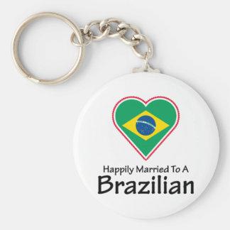 Happily Married Brazilian Keychain
