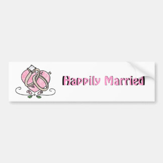 Happily Married Bumper Sticker