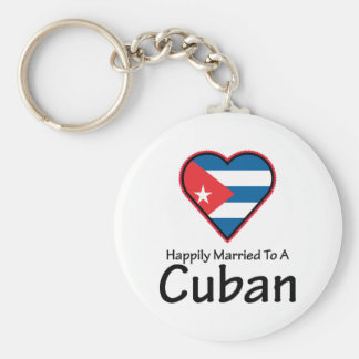 Happily Married Cuban Keychain