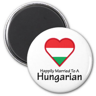 Happily Married Hungarian 2 Inch Round Magnet