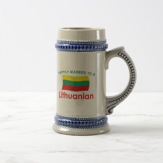 Happily Married Lithuanian Beer Stein