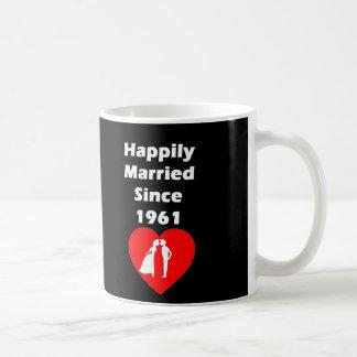 Happily Married Since 1961 Coffee Mug