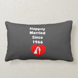 Happily Married Since 1966 Lumbar Pillow