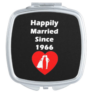 Happily Married Since 1966 Travel Mirrors