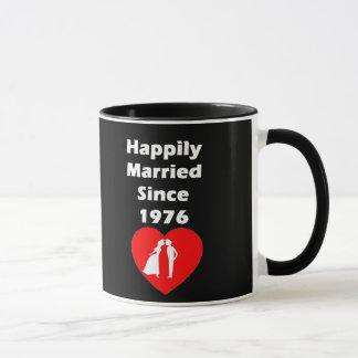 Happily Married Since 1976 Mug