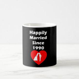 Happily Married Since 1990 Coffee Mug