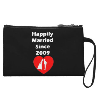 Happily Married Since 2009 Wristlet Purse
