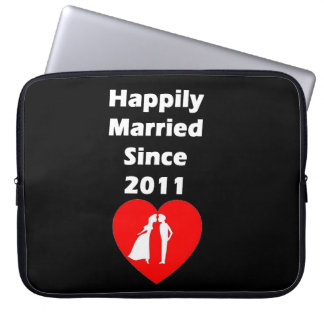 Happily Married Since 2011 Laptop Computer Sleeve