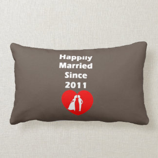 Happily Married Since 2011 Lumbar Pillow
