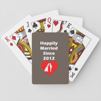 Happily Married Since 2012 Poker Deck