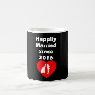 Happily Married Since 2016 Coffee Mug