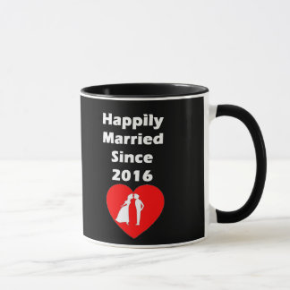 Happily Married Since 2016 Mug