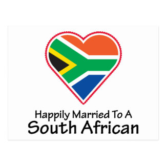 Happily Married South African Postcard