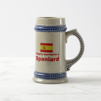 Happily Married Spaniard Beer Stein