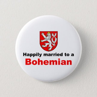 Happily Married To A Bohemian 2 Inch Round Button