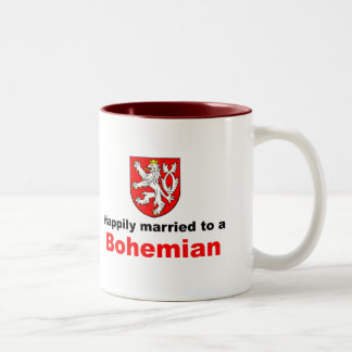 Happily Married To A Bohemian Two-Tone Coffee Mug