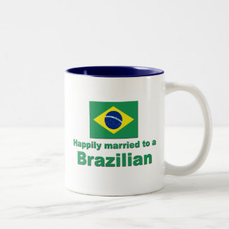 Happily Married to a Brazilian Two-Tone Coffee Mug