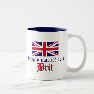 Happily Married To A Brit Two-Tone Coffee Mug