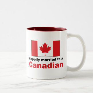 Happily Married To A Canadian Two-Tone Coffee Mug