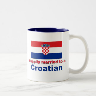 Happily Married To A Croatian Two-Tone Coffee Mug