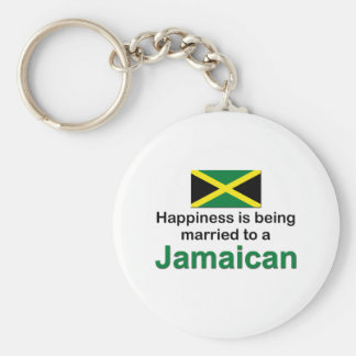 Happily Married To A Jamaican Keychain
