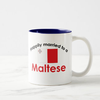 Happily Married To A Maltese Two-Tone Coffee Mug
