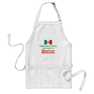 Happily Married To A Mexican Standard Apron