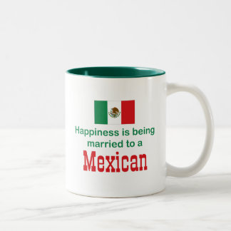 Happily Married To A Mexican Two-Tone Coffee Mug