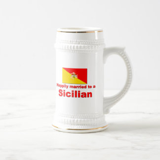 Happily Married to a Sicilian Beer Stein