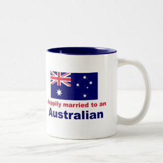Happily Married To An Australian Two-Tone Coffee Mug