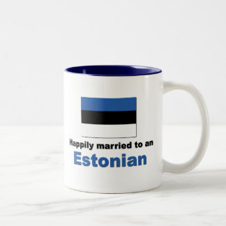 Happily Married to an Estonian Two-Tone Coffee Mug