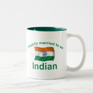 Happily Married To An Indian Two-Tone Coffee Mug