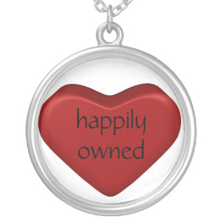 happily owned silver plated necklace