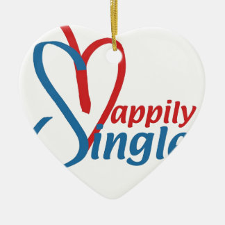 HappilySingle™ Ceramic Ornament
