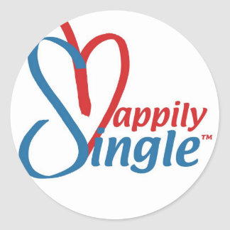 HappilySingle™ Classic Round Sticker
