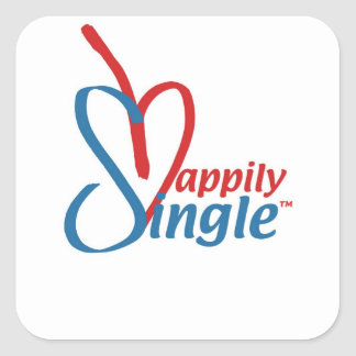 HappilySingle™ Square Sticker