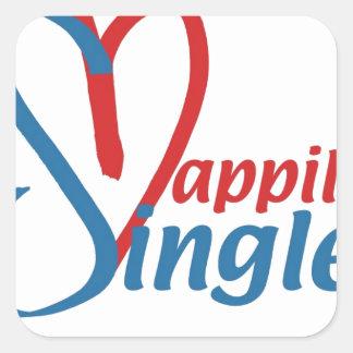 HappilySingle™ Square Sticker