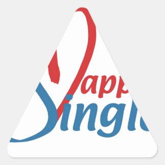 HappilySingle™ Triangle Sticker