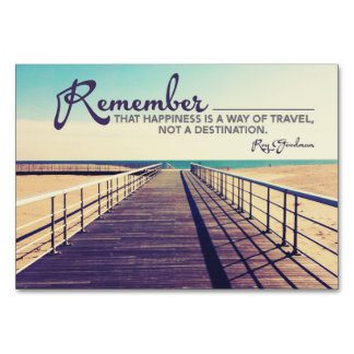 Happiness A Way Of Travel Card