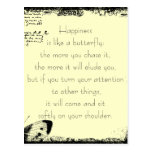 Happiness and Butterflies Quote Postcard