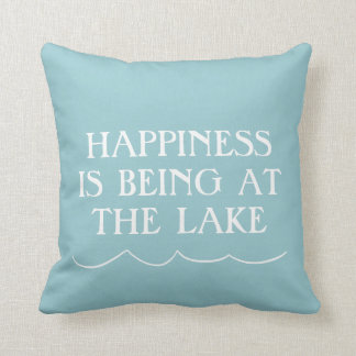 Happiness at the Lake Throw Pillow