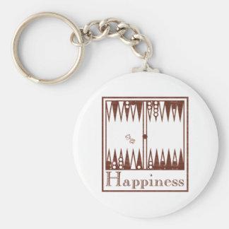 Happiness: Backgammon Keychain