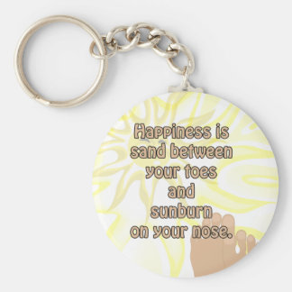 Happiness Beach Sand Sunshine Keychain