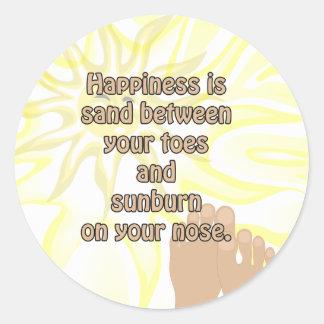 Happiness Beach Sand Sunshine Sticker
