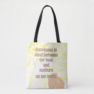 Happiness Beach Sand Sunshine Tote