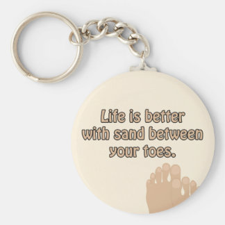 Happiness Beach Sand Toes Keychain
