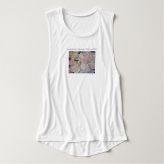 Happiness Blooms Watercolor Floral Tank Top
