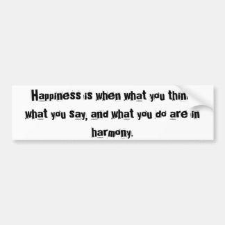 Happiness Bumper Sticker