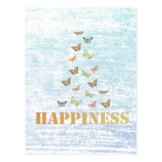 Happiness Butterflies Postcard